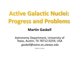 Active Galactic Nuclei: Progress and Problems