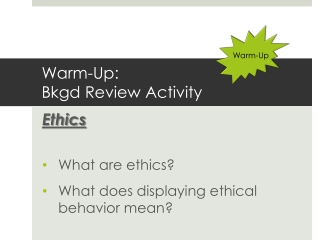 Ethical Decision Making and Ethical Theory