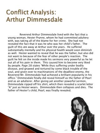 Conflict Analysis:  Arthur Dimmesdale