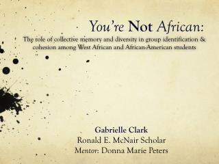 You're  Not African: