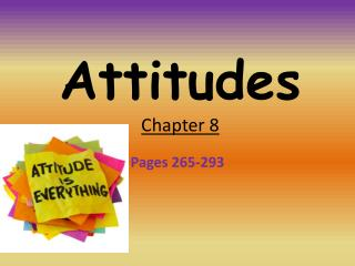 Attitudes Chapter 8