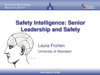 Safety  Intelligence: Senior Leadership and Safety