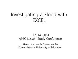 Investigating a Flood with EXCEL