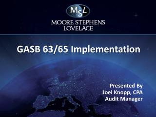 GASB 63/65 Implementation