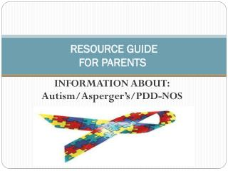 Resource Guide for parents