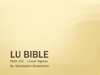 LU Bible