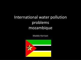 International water pollution problems mozambique