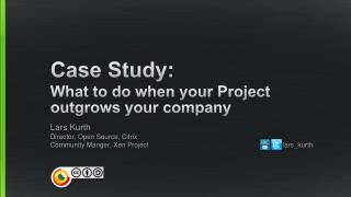 Case Study: What to do when your Project outgrows your company