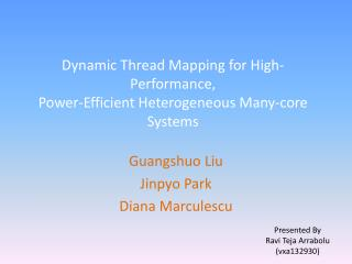 Dynamic Thread Mapping for High-Performance, Power-Efficient Heterogeneous Many-core Systems