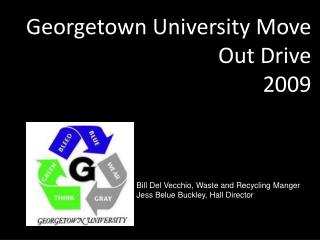 Georgetown University Move Out Drive 2009