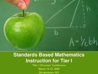 Standards Based Mathematics Instruction for Tier I