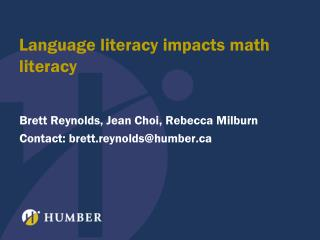 Language literacy impacts math literacy