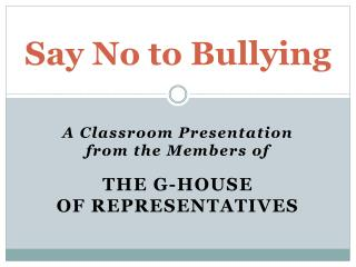 Say No to Bullying