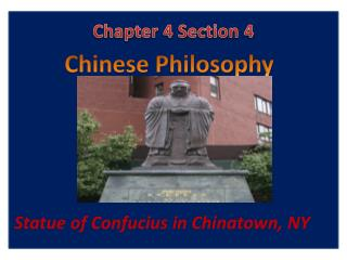 Statue of Confucius in Chinatown, NY
