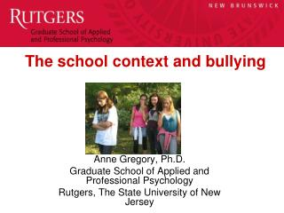 The school context and bullying