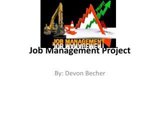 Job Management Project