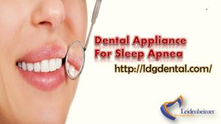 Dental Appliance For Sleep Apnea