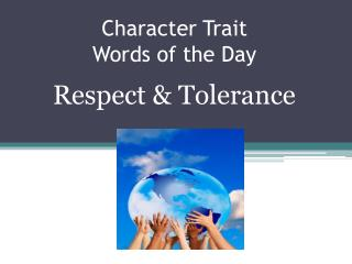 Character Trait Words of the Day