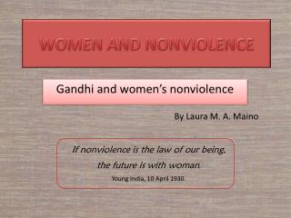 WOMEN AND NONVIOLENCE