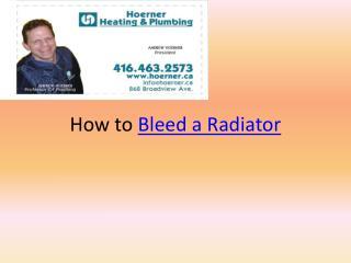 Bleeding Radiator