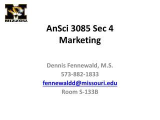 AnSci 3085 Sec 4 Marketing