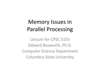 Memory Issues in Parallel Processing