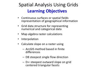 Spatial Analysis Using Grids