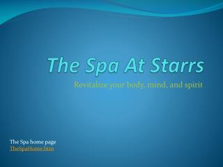 The Spa At  Starrs