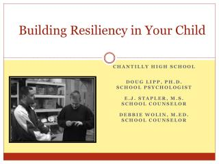 Building Resiliency in Your Child
