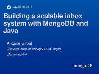 Building a scalable inbox system with  MongoDB  and Java