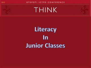 Literacy In Junior Classes