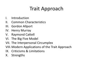 Trait Approach