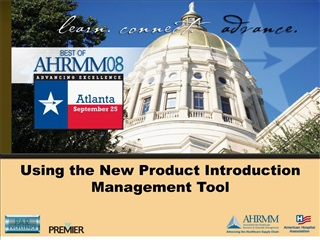 Using the New Product Introduction Management Tool
