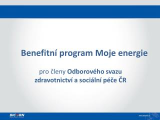 Benefitní  program Moje energie