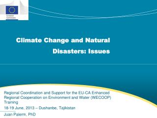 Climate Change and Natural Disasters: Issues