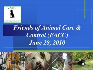 Friends of Animal Care & Control (FACC) June 28, 2010