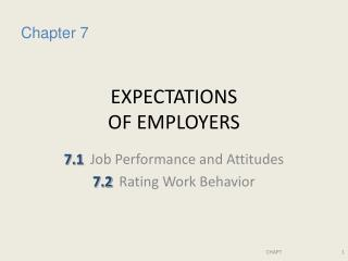 EXPECTATIONS  OF EMPLOYERS