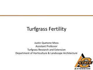 Turfgrass Fertility