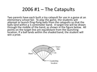 2006 #1 – The Catapults