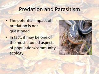 Predation and Parasitism