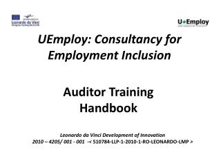 UEmploy: Consultancy for Employment Inclusion