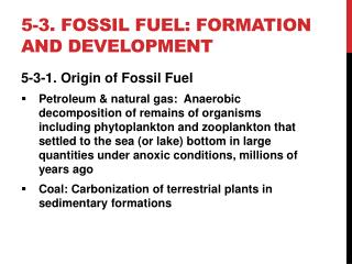 5-3. fossil fuel: formation and development