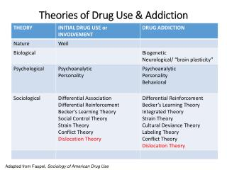 Theories of Drug Use & Addiction
