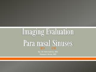 Imaging Evaluation Para  nasal Sinuses