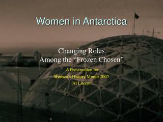 Women in Antarctica