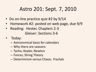 Astro  201: Sept.  7,  2010