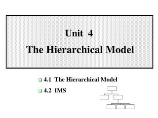 Unit  4 The  Hierarchical Model