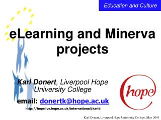 Karl Donert , Liverpool Hope University College