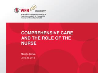 Comprehensive Care and the Role of the Nurse