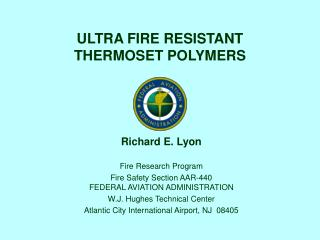 ULTRA FIRE RESISTANT THERMOSET POLYMERS
